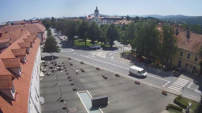 HD Live Webcam Idrija - Mestni trg (house of painter Jurij Tavčar)