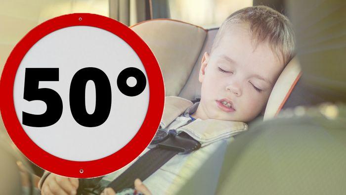 Im Auto können bei Hitze schnell 50 Grad herrschen.