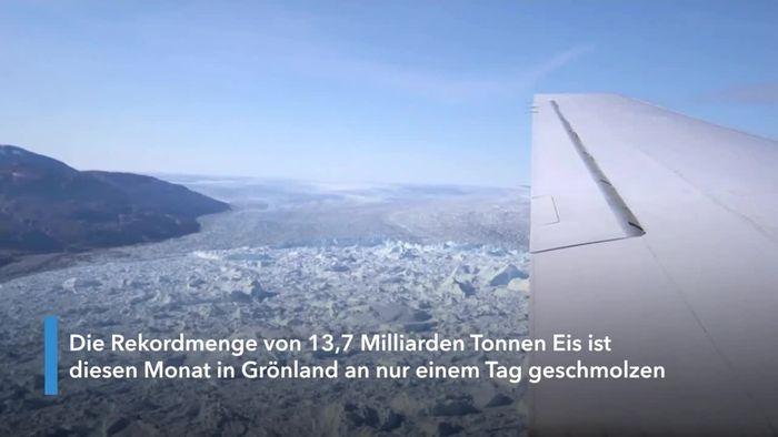 Rekord-Eisschmelze auf Grönland: 13 Milliarden Tonnen an nur einem Tag