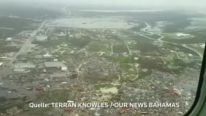 Nichts steht mehr! Bahamas-Inseln nach DORIAN ein Trümmerfeld
