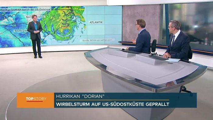 Landfall! DORIAN prallt auf US-Ostküste und sorgt für Überflutungen
