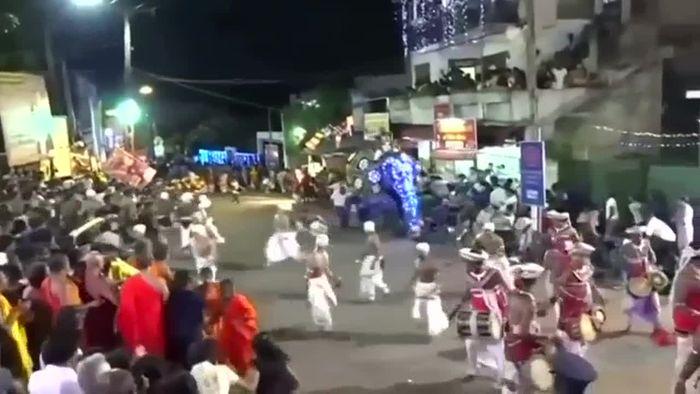Verletzte! Elefant rastet bei Festumzug aus