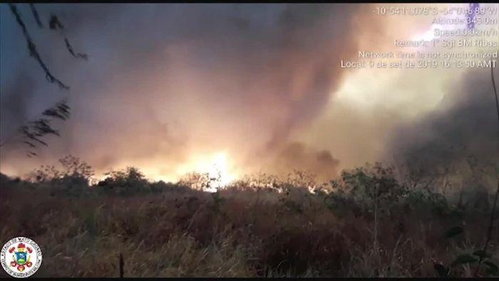 Regenwald brennt weiter: Steigende Luftbelastung über dem Amazonas