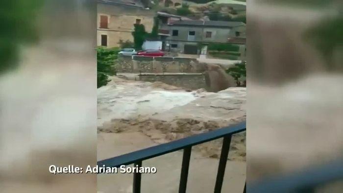 Tote nach Jahrhundert-Unwetter in Spanien