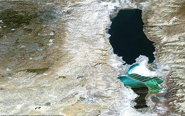 Das Tote Meer 30 Jahre später, am 27. Oktober 2014.