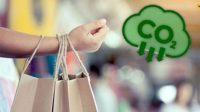 CO2 kann man gut beim Einkaufen einsparen.