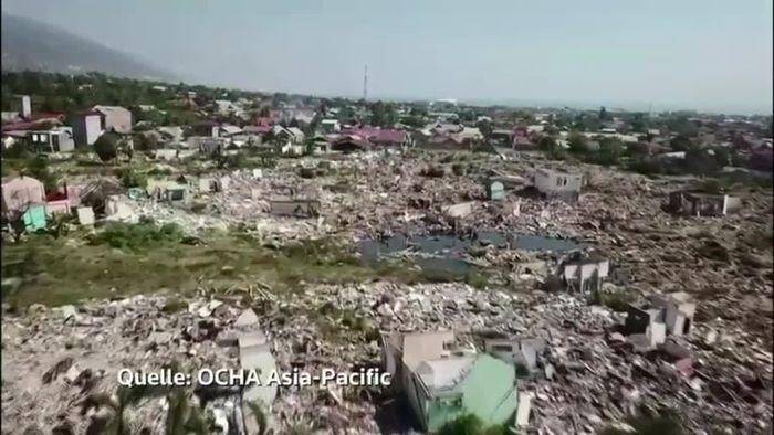 Ein Jahr nach Erdbeben und Tsunami: Sulawesi noch immer voller Zerstörungen