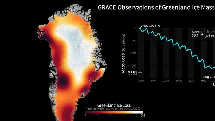 Dramatisch: Animation zeigt Eisschmelze in Grönland