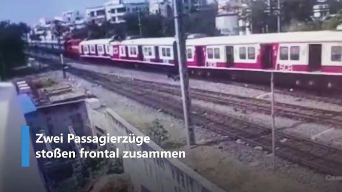Signal übersehen: Passagierzüge stoßen frontal zusammen