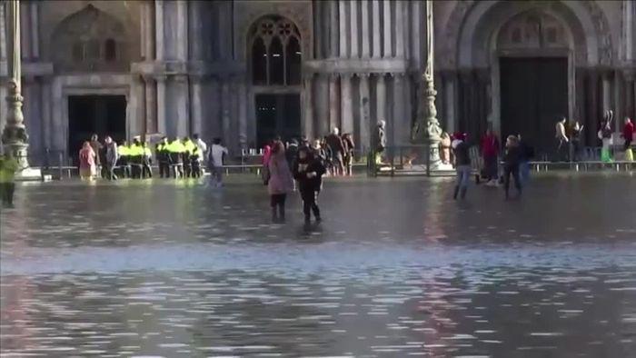 Riesiger Schaden durch Überflutungen: Venedig unter Schock