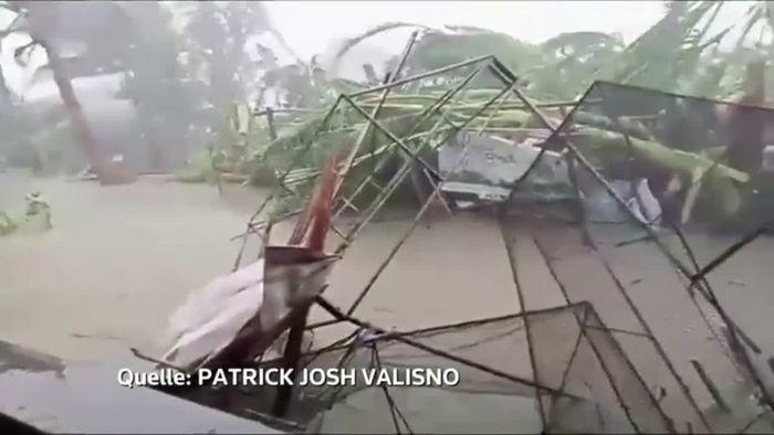 So heftig wütete Taifun KAMMURI auf den Philippinen