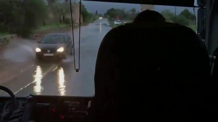 Heftige Gewitternacht mit Überflutungen auf Mallorca