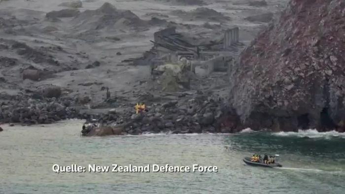 Sechs Leichen nach Vulkanausbruch auf White Island geborgen