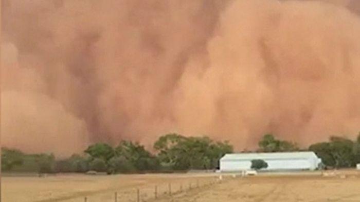Spektakuäre Bilder! Bedrohlicher Sandsturm überrollt Australien