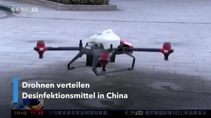 Kampf gegen Coronavirus: China setzt Drohnen zur Desinfizierung ein