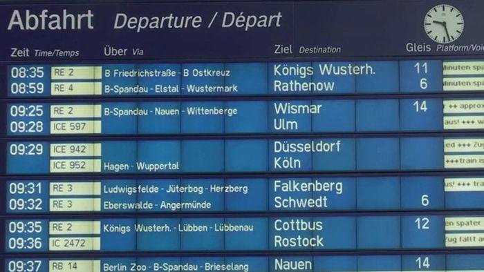 Orkan SABINE hat Fernverkehr im ganzen Land lahmgelegt