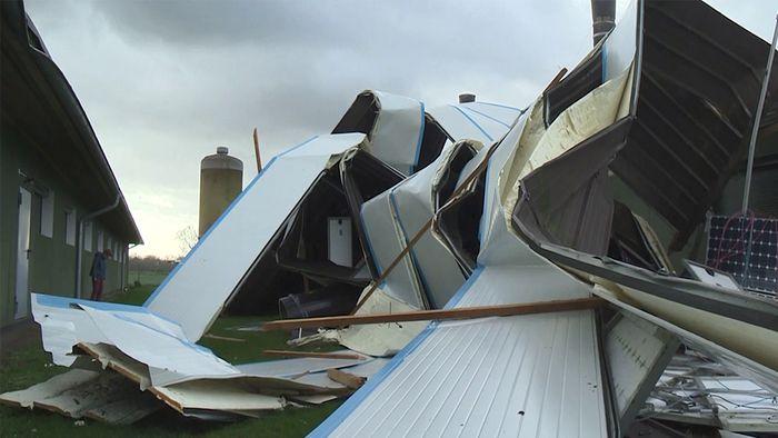 VICTORIA hat auf einer Hühnerfarm in Niedersachsen beträchtlichen Schaden angerichtet.