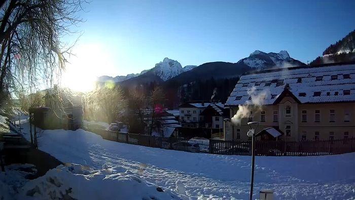 HD Live Webcam Tarvisio webcam - Bicycle lane and Mangart mountain