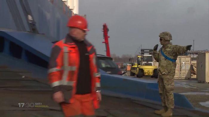 """Nato-Manöver """"Defender 2020"""": Erste Panzer in Bremerhaven angekommen"""