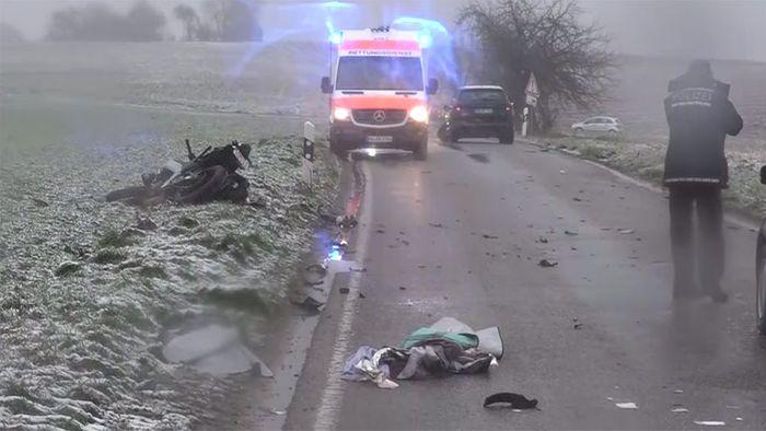 Schwere Unfälle durch Sturmtief BIANCA