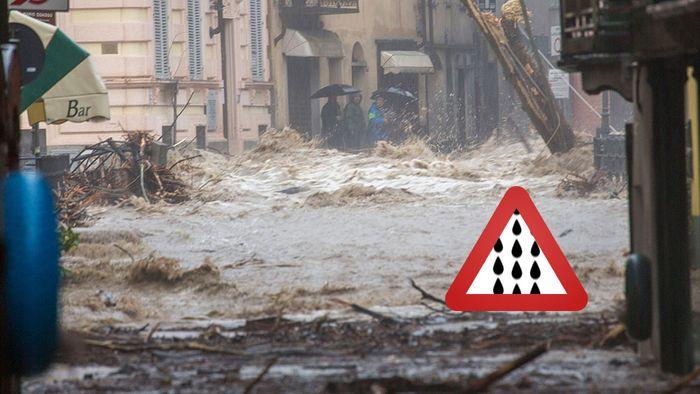 Explosive Mischung! Auch Unwetter beuteln Italien