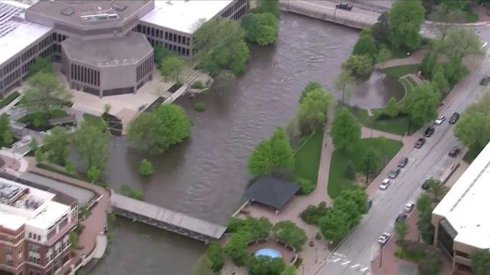 Nach vier Tagen Regen: Chicago steht unter Wasser
