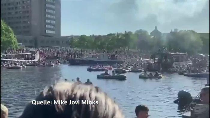 Berlin: Party auf Landwehrkanal sorgt für heftige Kritik