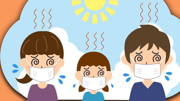 Bei Hitze kann die Maskenpflicht unangenehm werden.