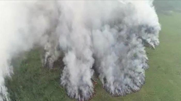 Gewaltiges Feuer! Hitzewelle facht Waldbrände in Sibirien an