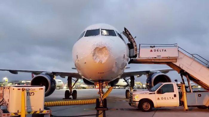 Hagel richtet verheerenden Schaden an Airbus an