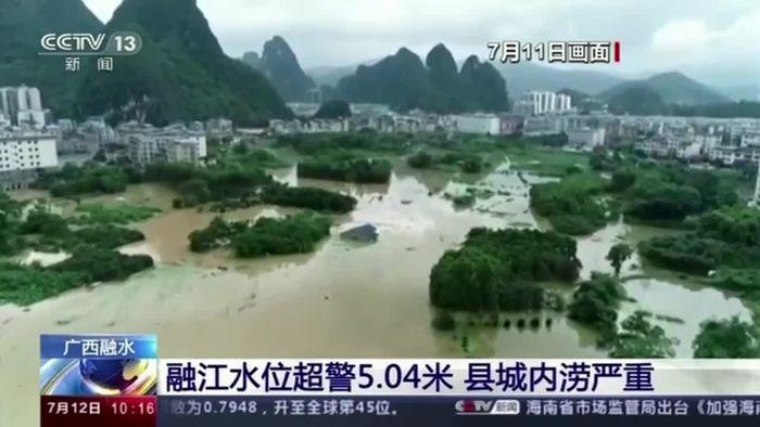 Zweithöchste Alarmstufe: Weiter Land unter in China
