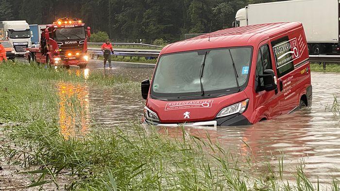 Hochwasser in Bayern: Regen-Monatssoll teils schon übertroffen