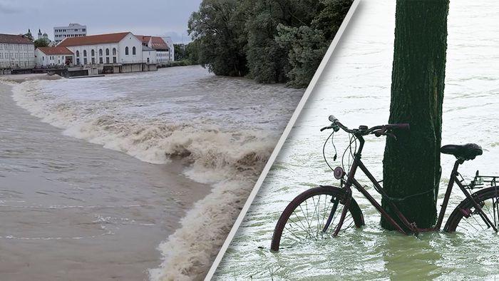 In Süddeutschland sorgte Dauerregen für Hochwasser und Überflutungen.