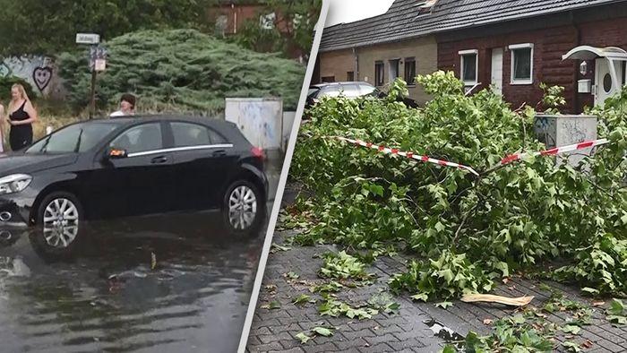 Am Dienstag gab es in mehreren Regionen Deutschlands schwere Sommergewitter.