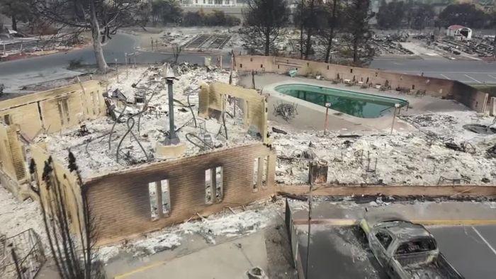 Feuer-Albtraum noch nicht zu Ende: Drohnenvideo zeigt Zerstörungen in Oregon