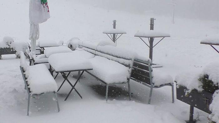 In Deutschland ist am vergangenen Wochenende der erste Schnee gefallen.