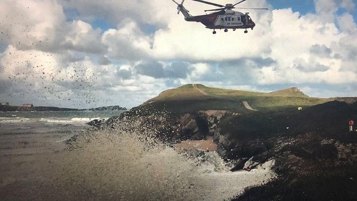 Hubschrauber nötig: Küstenwache befreit Hund aus Algenschaum
