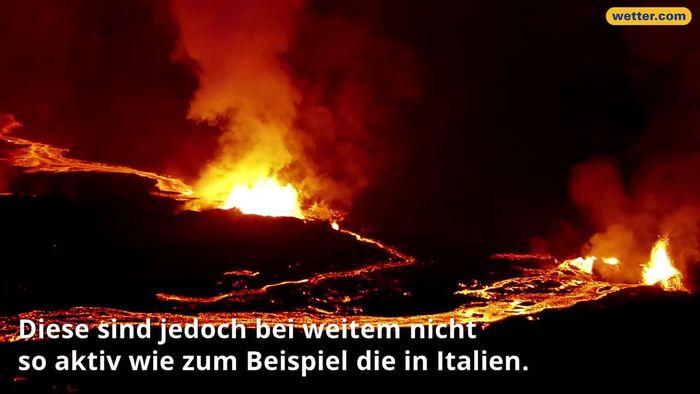 Auch in Deutschland gibt es Vulkane.