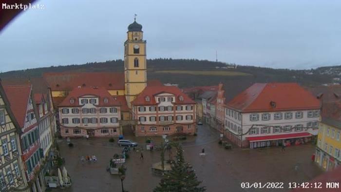HD Live Webcam Bad Mergentheim - Marktplatz