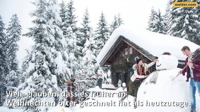 Schnee zur Bescherung: Gab es früher öfter weiße Weihnachten?