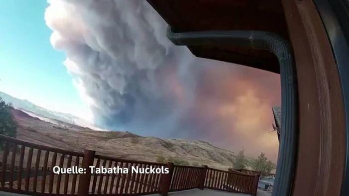 Heftigster Waldbrand der US-Geschichte: Beeindruckendes Zeitraffervideo