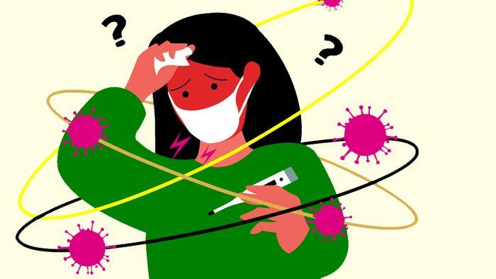Die Symptome von Covid-19, der Grippe und einer Erkältung sind sehr ähnlich.