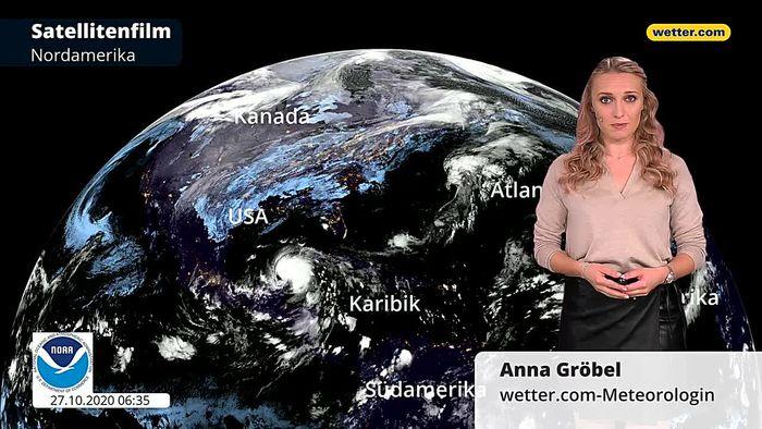 Riesiges Sturmsystem in den USA: Hurrikan ZETA trifft Eissturm
