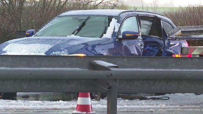 Von Donnerstag auf Freitag gab es in Deutschland einen Wetterumschwung mit Schnee.
