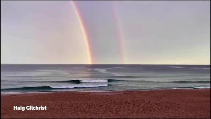 Regenbogen wie aus dem Bilderbuch