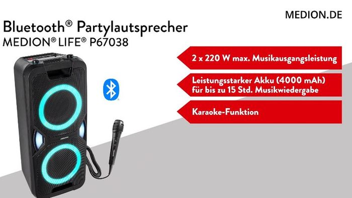 Bluetooth Partylautsprecher