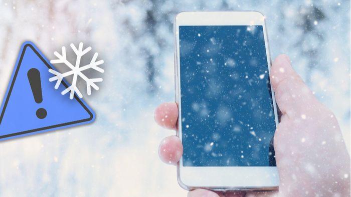 Kälte ist für Smartphones schädlich.