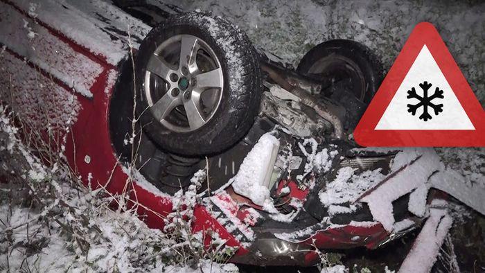 Vergangenes Wochenende verursachte das Winterwetter zahlreiche Unfälle und einen Lawinenabgang.