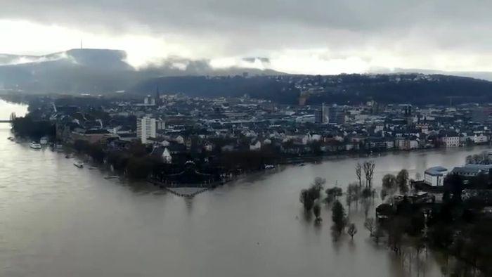 Überflutungen an Rhein und Mosel - Auch Köln betroffen