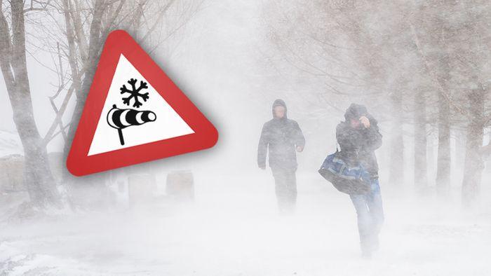 Bei einem Schneesturm drohen mehrere Gefahren.